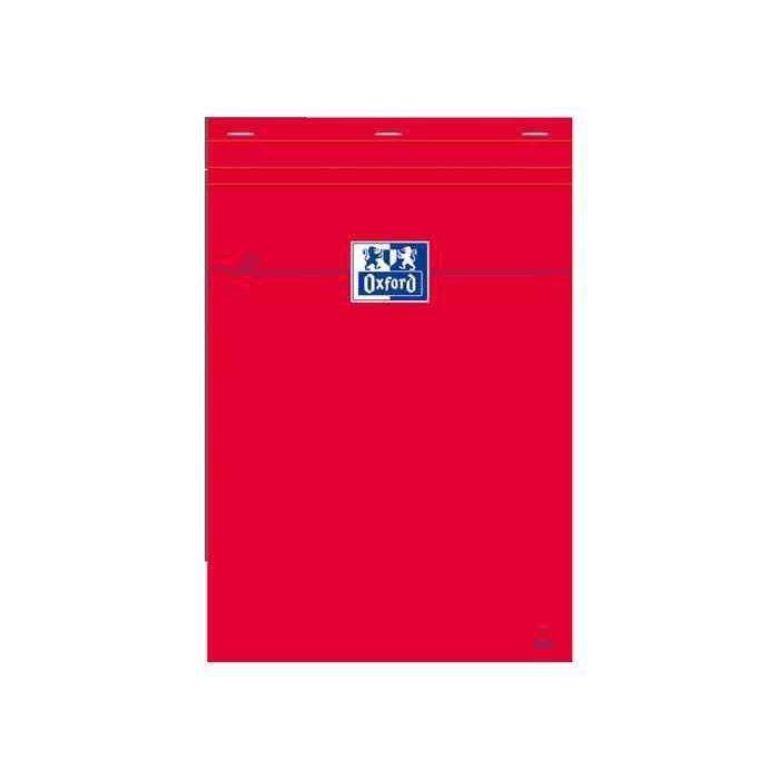 Bloc notes A6 Quadrillé 80 feuilles 80g Rouge