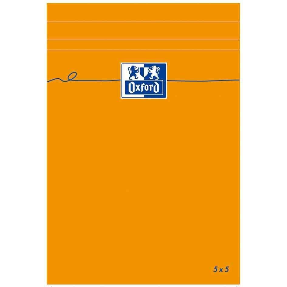 Bloc-notes ORANGE 110x170 mm Quadrillé 80 feuilles OPTIK Paper 80g