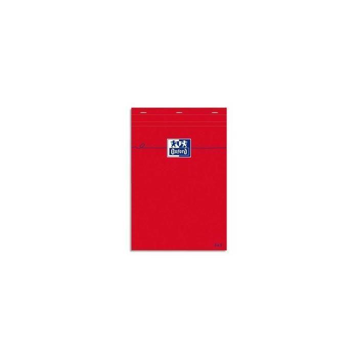 Bloc-notes A5 80 feuilles Quadrillé 80g Rouge