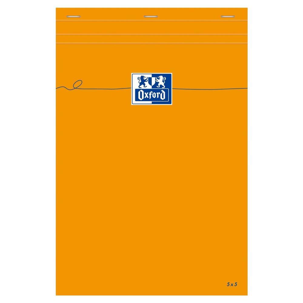 Bloc-notes Orange A4 80 Feuilles 80g Quadrillé 5x5