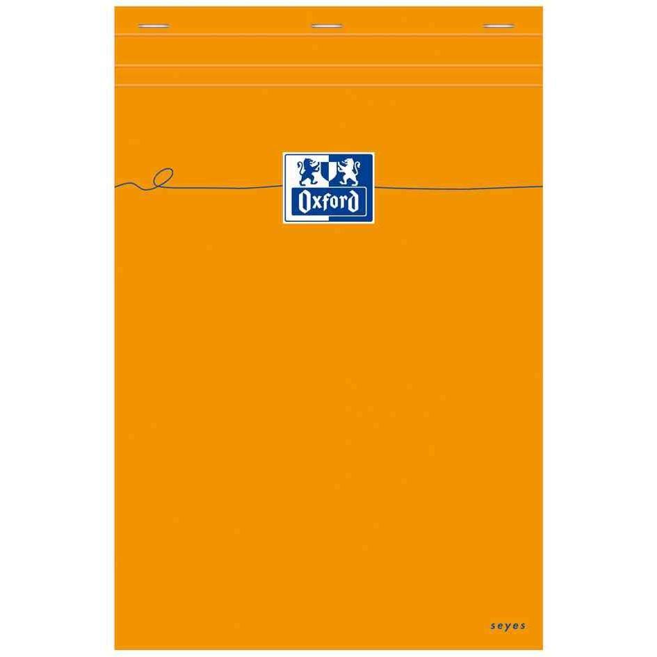Bloc-notes Orange A4 80 feuilles 80g Seyès Grands Carreaux