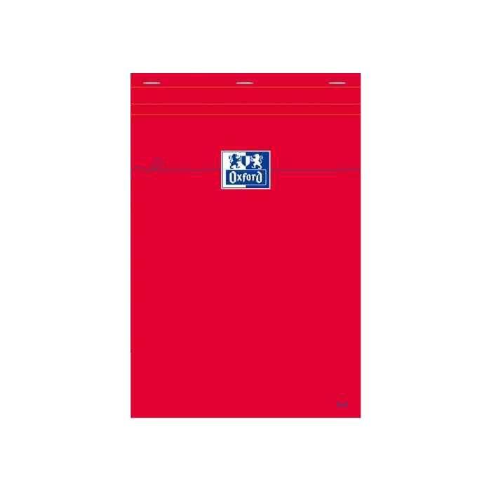 Bloc-notes A4 quadrillé 80 feuilles 80g Rouge