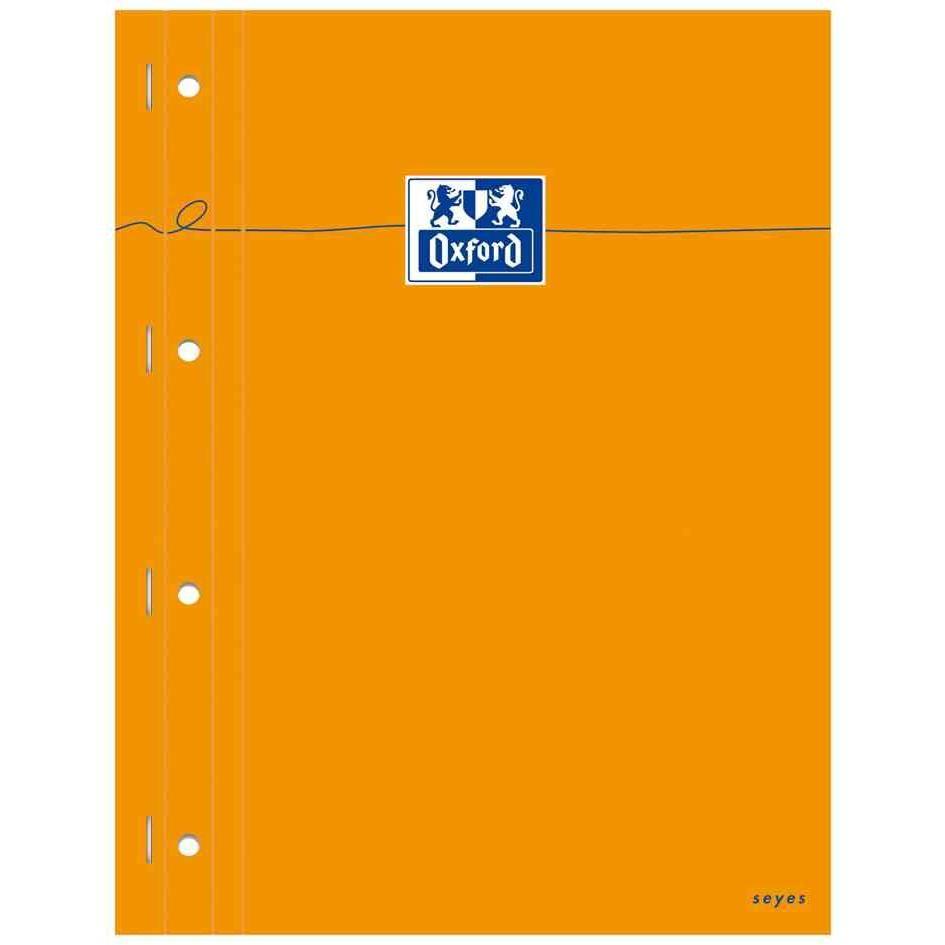 bloc-notes orange 230 x 297 seyès 80 feuilles 4 perfo