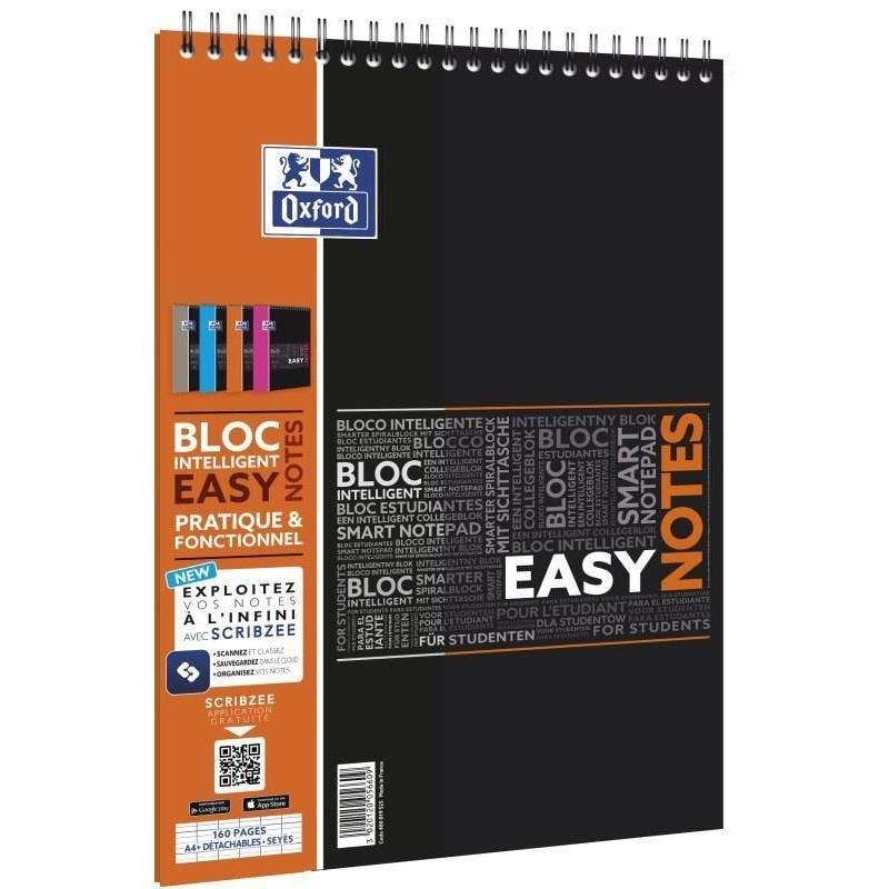 Bloc Spirale 'Easynotes' A4+ Connecté Scribzee 160 p Seyes Coloris aléatoire
