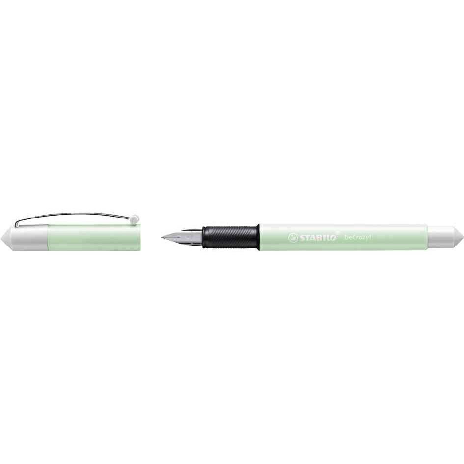 Stylo plume - beCrazy! - Collection PASTEL WHITE - Menthe