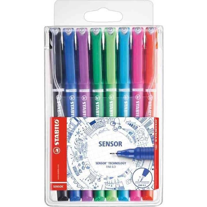 Pochette de 8 stylos-feutres pointe extra-fine sur amortisseur - Coloris asso…