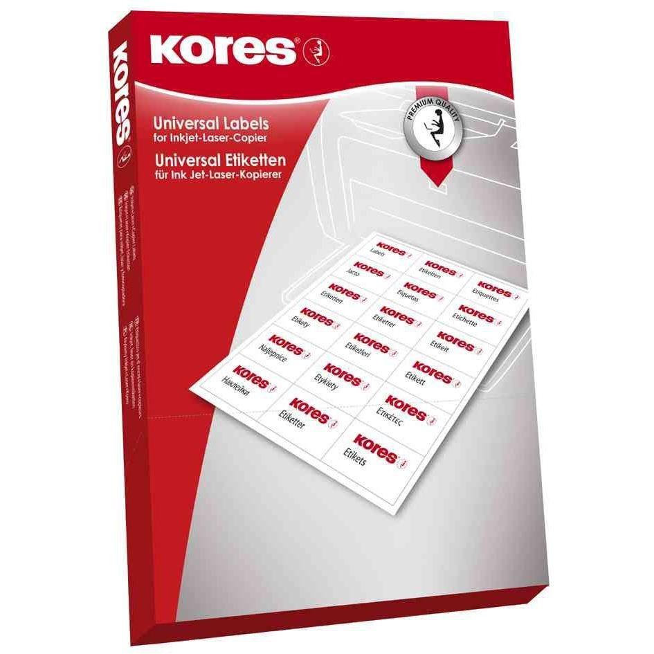 Étiquettes universelles 38 x 21,2 mm blanc 6500 sur 100F