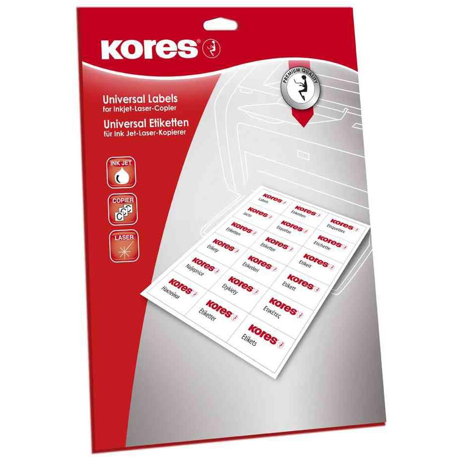 Étiquettes universelles 210 x 148 mm blanches 50 sur 25 Feuilles A4