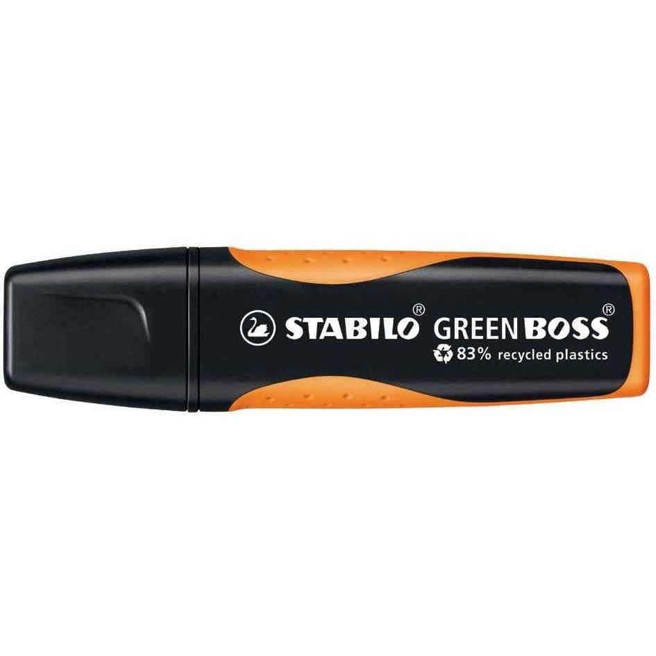 surligneur GREEN BOSS, Orange à 83% à base de plastique recyclé