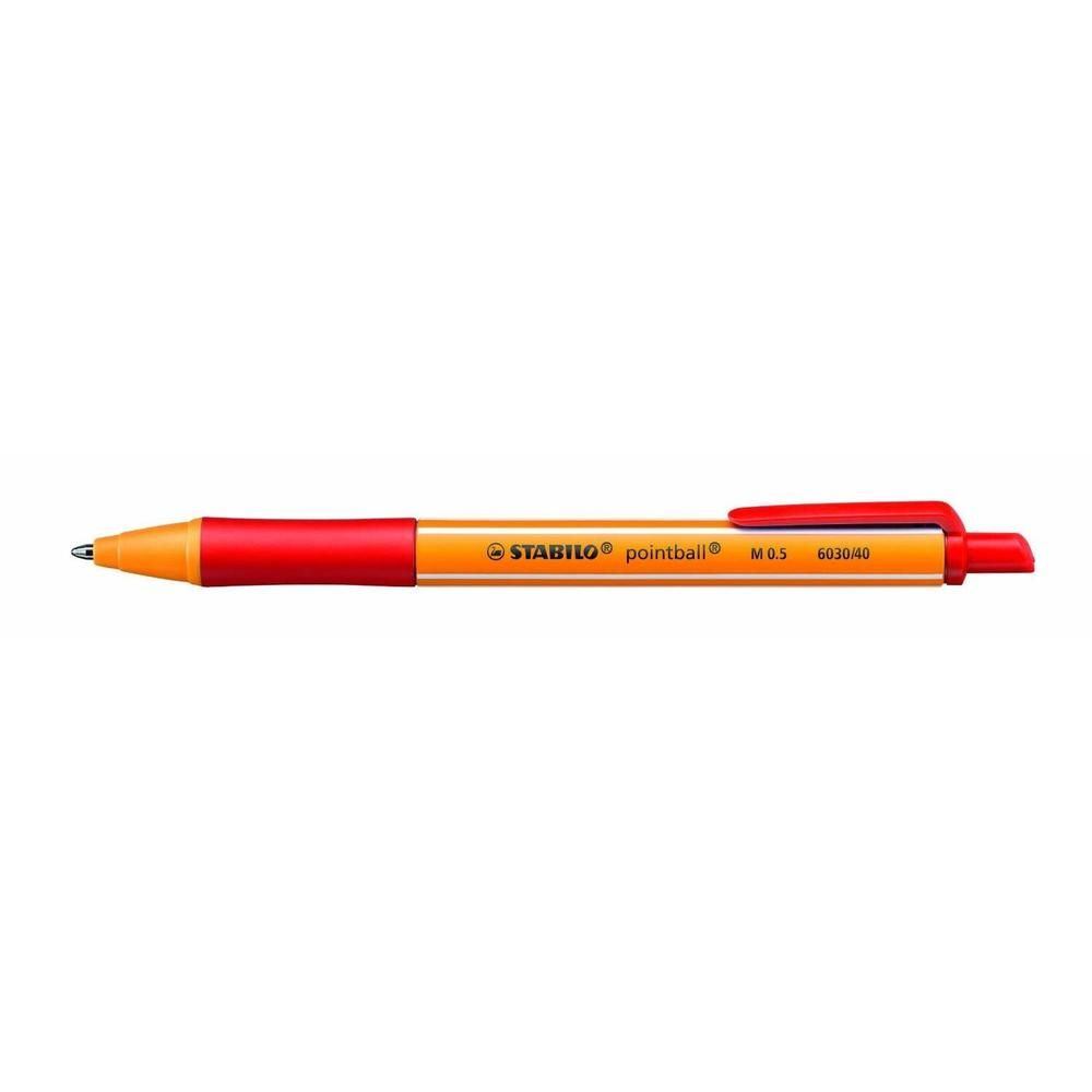 Stylo Bille Rétractable POINTBALL Tracé 0,5 mm Rouge