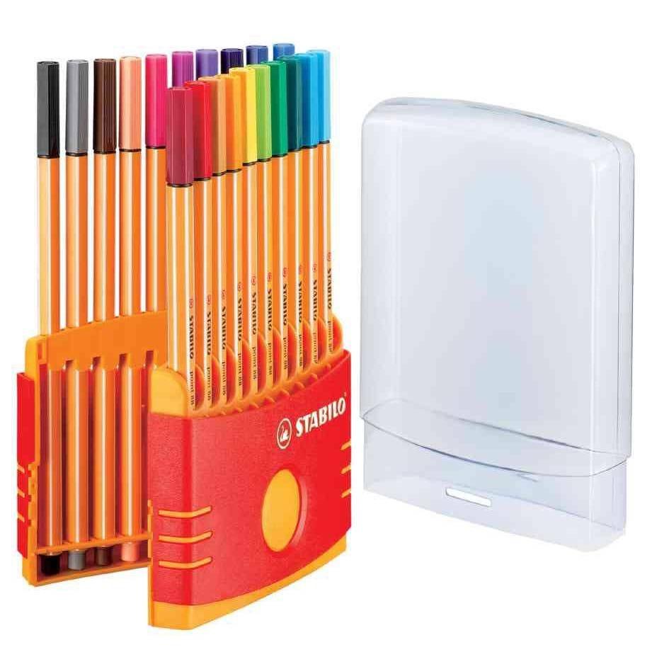 Etui ColorParade de 20 Stylo-Feutre POINT 88 Pte Fine 0,4 mm assorties
