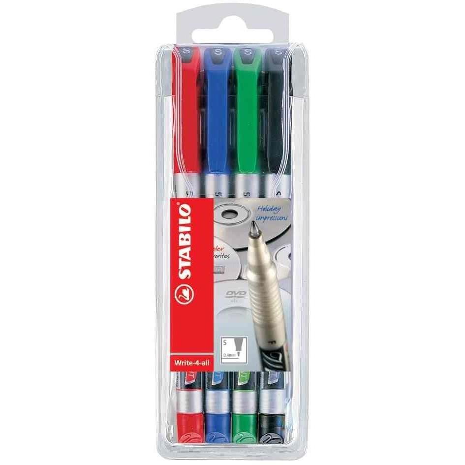 Marqueur permanent Write-4-all, F, étui en plastique