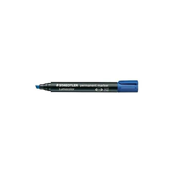 Marqueur permanent 'lumocolor 350' Pointe Biseau Bleu