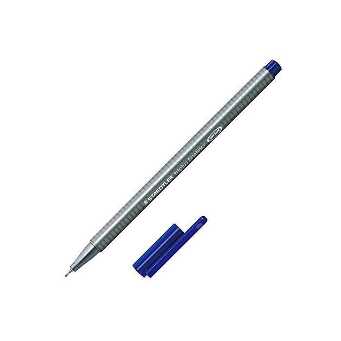 Feutre Fineliner Triplus Tracé 0,3 mm Bleu