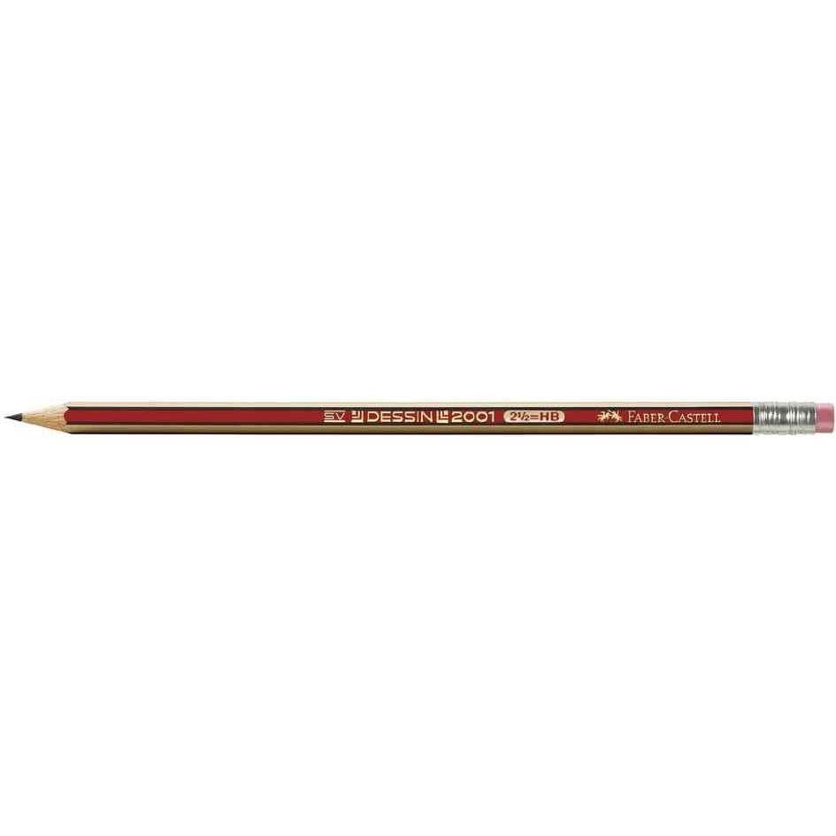 Crayon à papier DESSIN 2001 mine 2 mm HB Bout Gomme