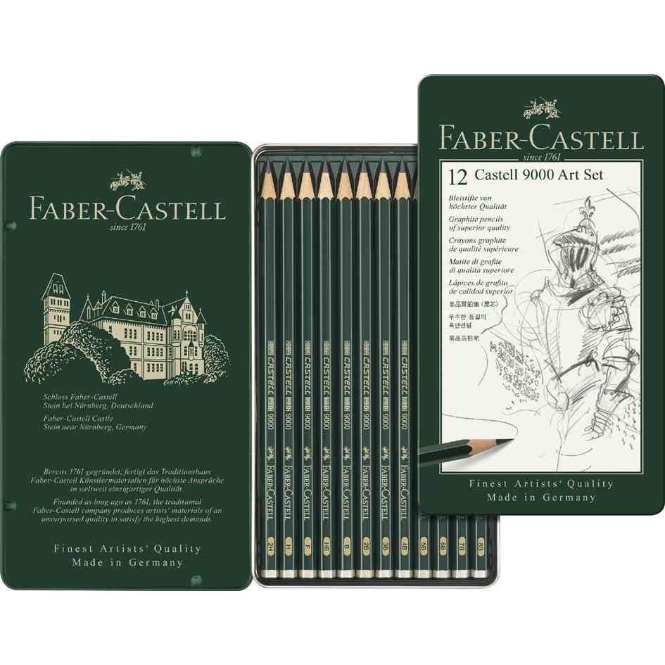 Crayon CASTELL 9000, kit Art de 12