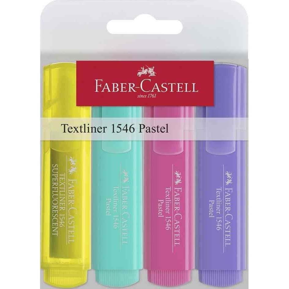 Textmarker TEXTLINER 1546 pastell, 4er Etui