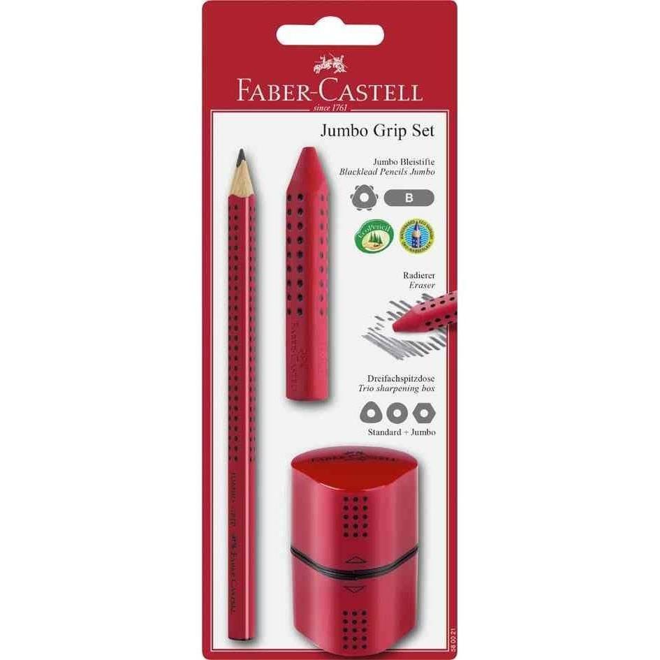 Kit crayon Jumbo GRIP, rouge blister