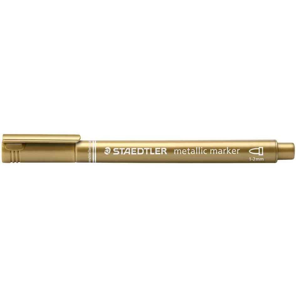 Marqueur Permanent Pte ogive 1-2 mm Or Metallique