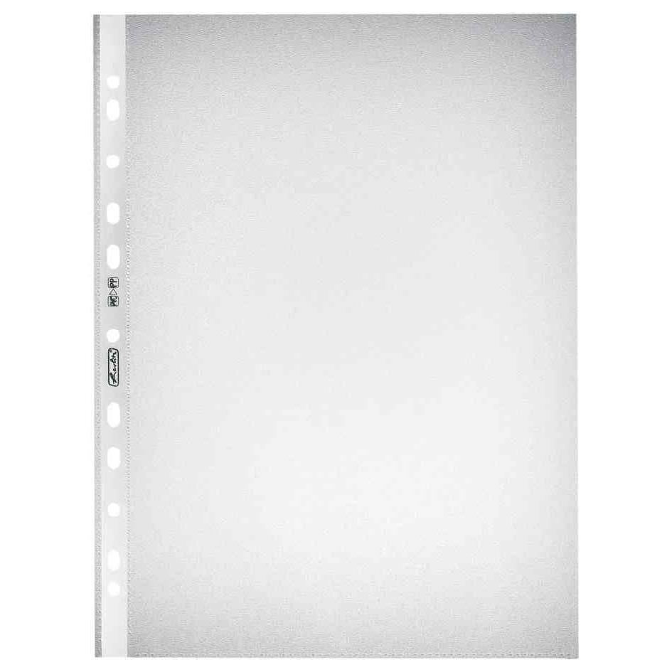 Pochettes perforée format A4 grainée 0,055 mm Transparent - Paquet de 10