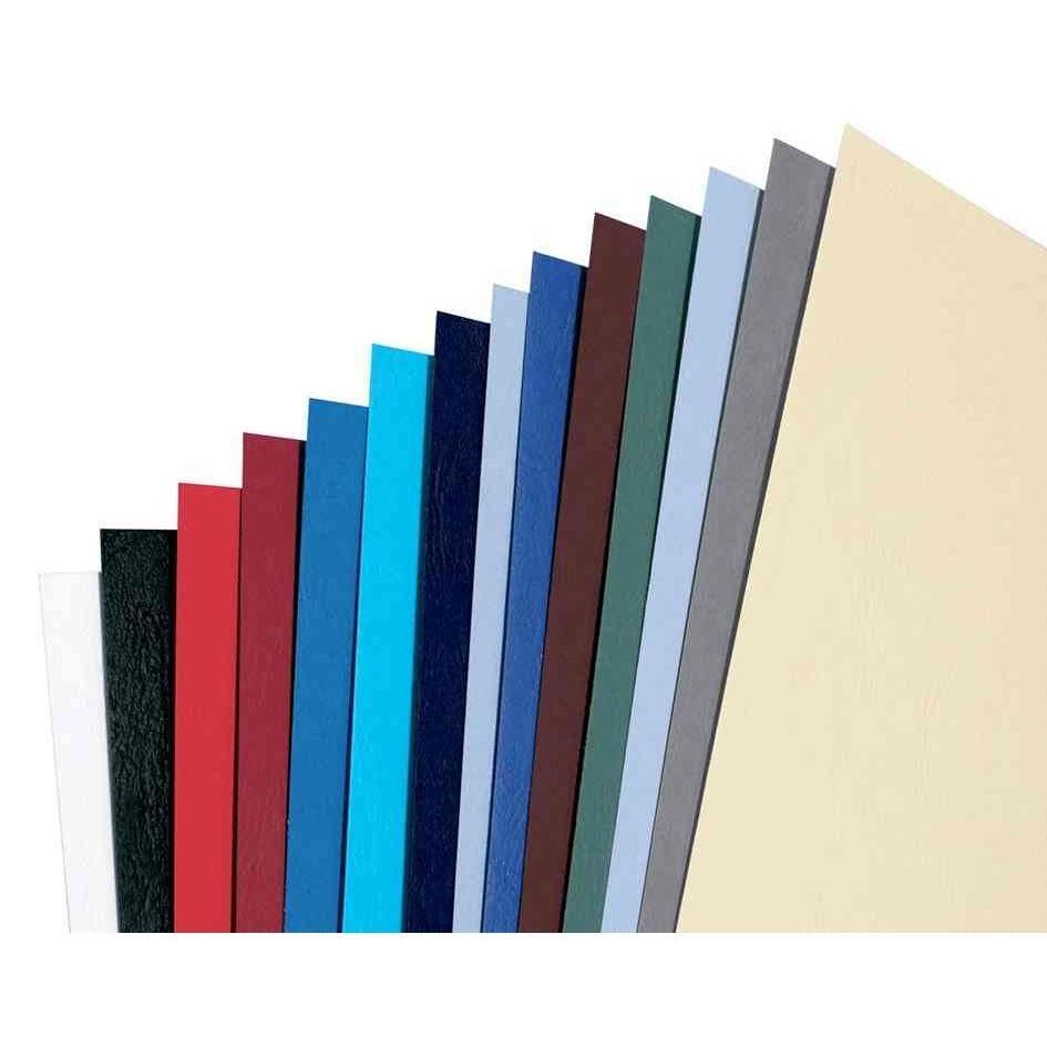 Plats de couverture A3 grain cuir LeatherGrain 250g/m2 noir - par lot de 100