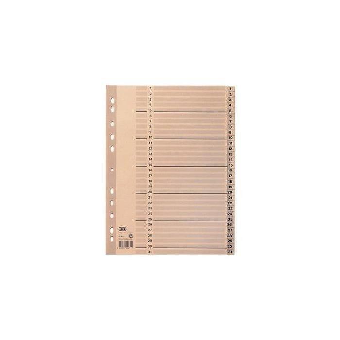 Intercalaire ELBA A4, 1-31, 31 compartiments