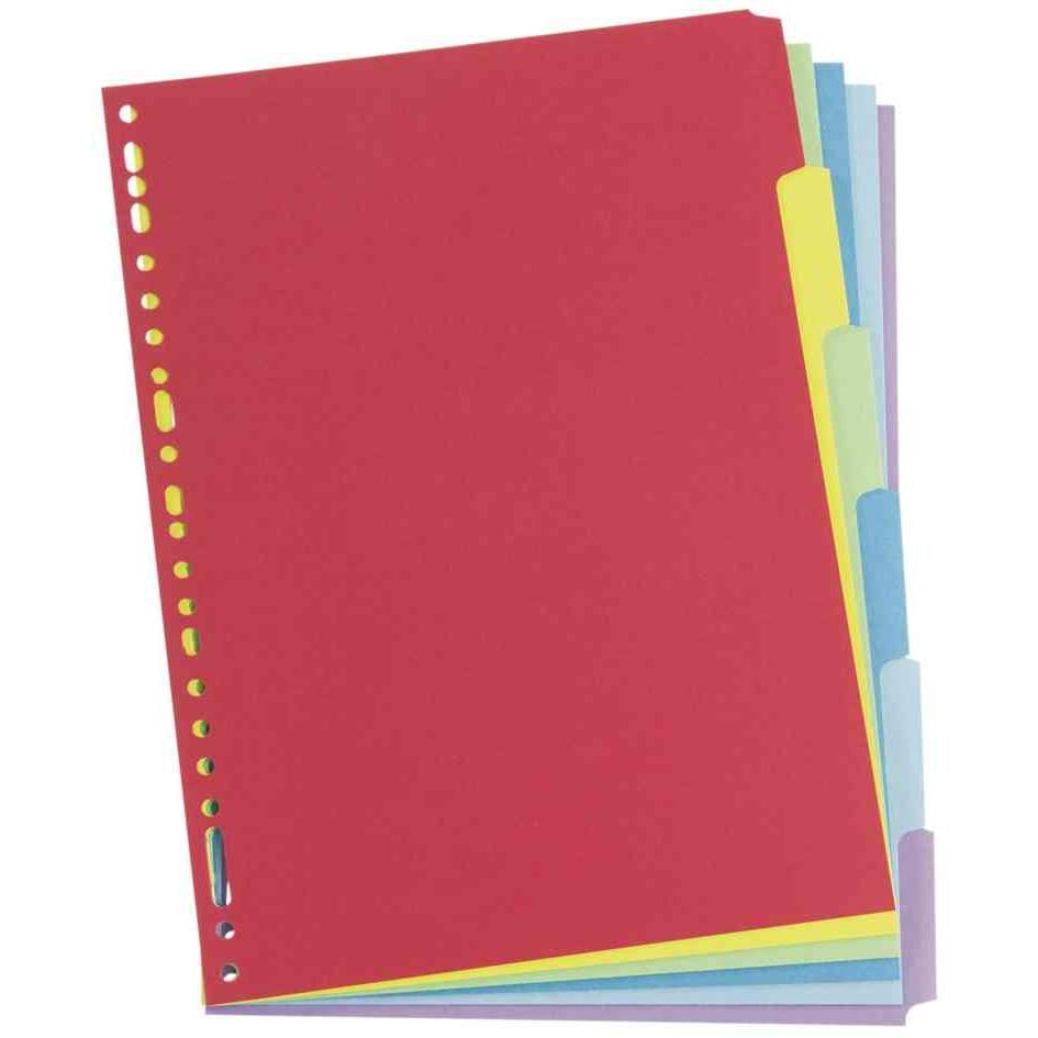 Intercalaire neutre Carte 250g multicolore 6 touches