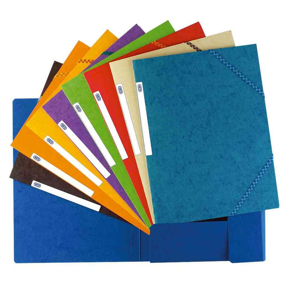 Chemise à élastique Top File, format A4, en carton, bleu foncé