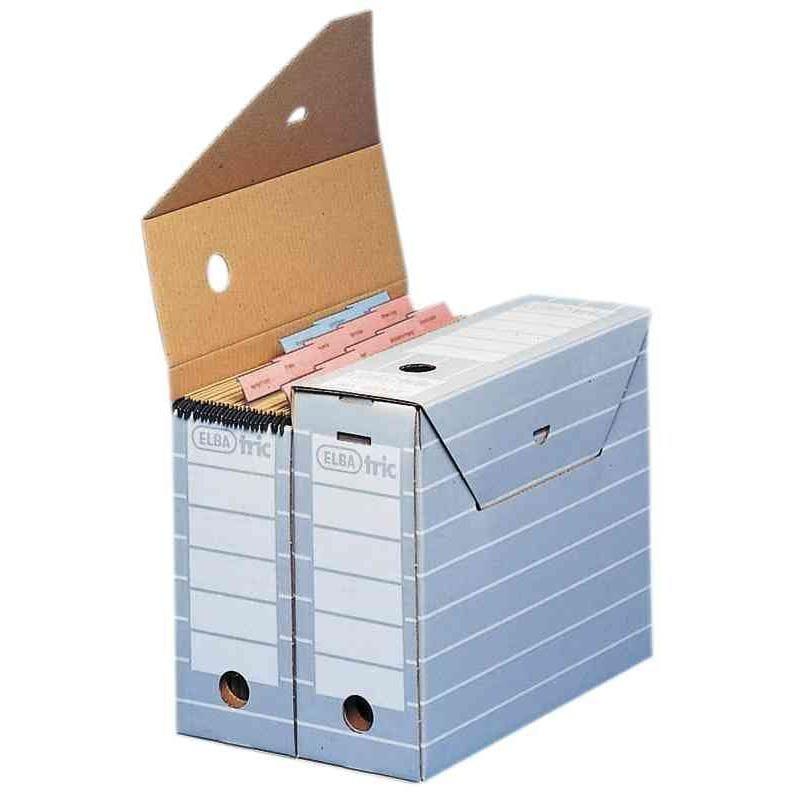 boîte d'archivage tric, largeur 95 mm pour format A4 Gris - Paquet de 10