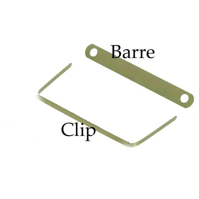 Clip archive laiton (impératif + barre de mantien Ref 100420792) Paquet de 100