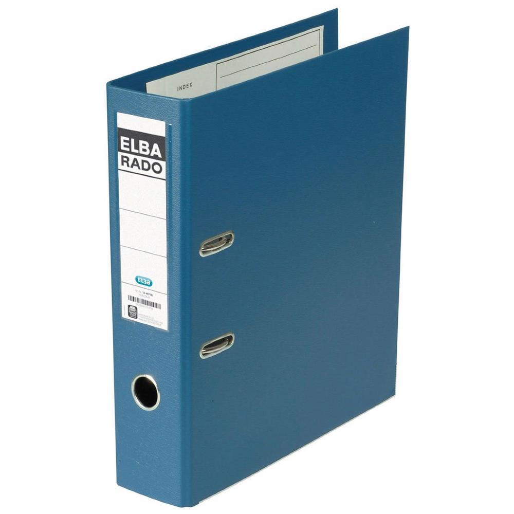Classeur rado Plast, largeur du dos: 50 mm, bleu