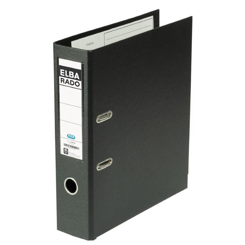 Classeur à levier Rado Plast Dos de 80 mm A4 Noir