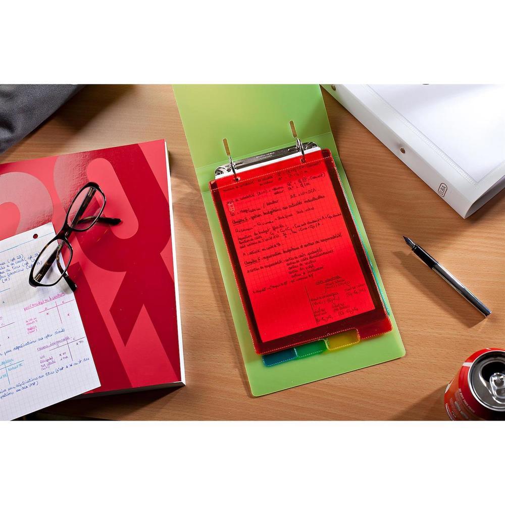 Intercalaire plastique souple coloré, A4 maxi 6 Positions