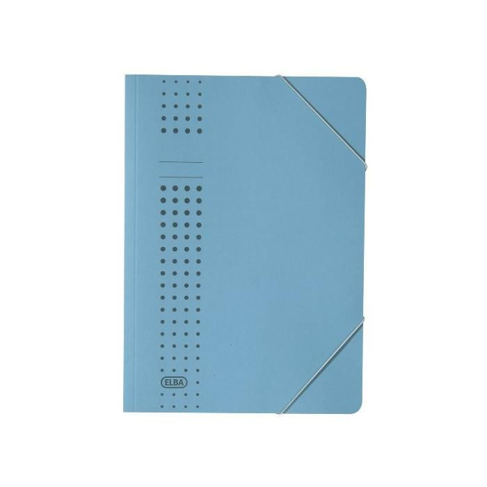 Chemise à élastique chic, en carton, A4, vert