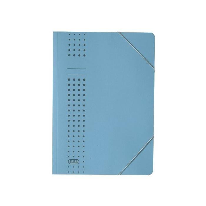 Chemise à élastique chic, en carton, A4, bordeaux