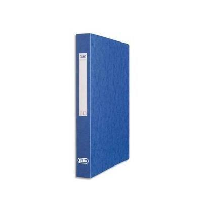 Classeur 2 anneaux Carte lustrée dos de 35 mm bleu