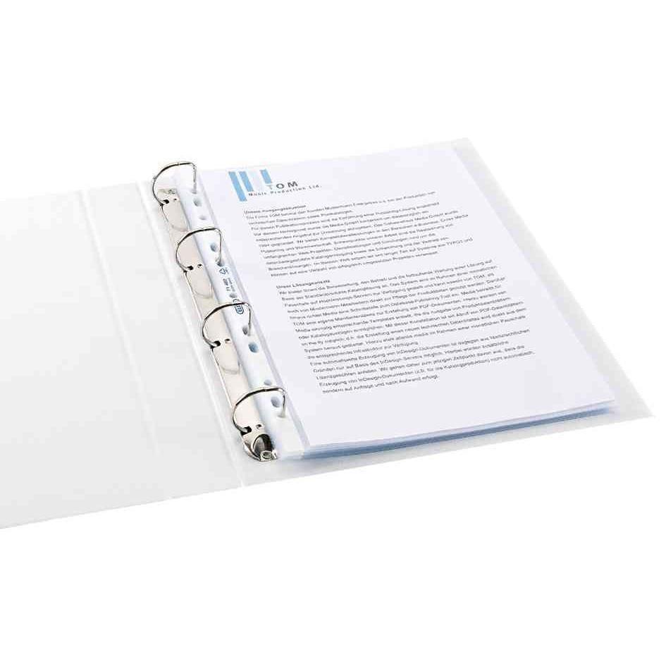 Pochettes perforées format A4 PP 0,09mm Lisse - boîte de 100