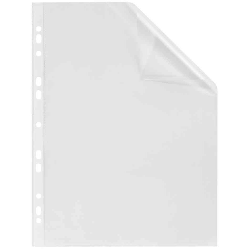 Pochettes perforées format A4 PP 0,05mm Lisse Boîte 100