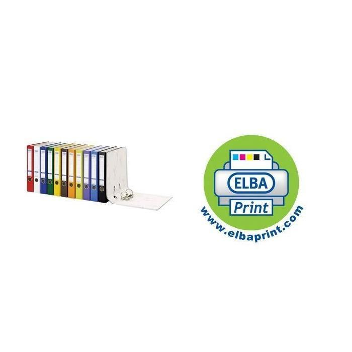 Classeur smart PP/Papier, largeur de dos: 50 mm, rouge
