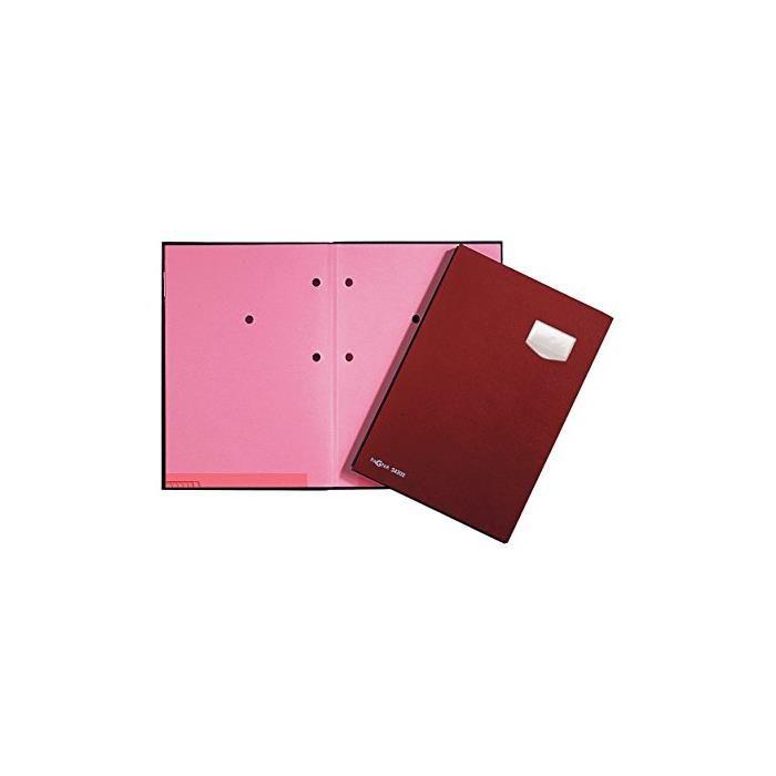Parapheur 'DE LUXE', A4, 20 compartiments, rouge
