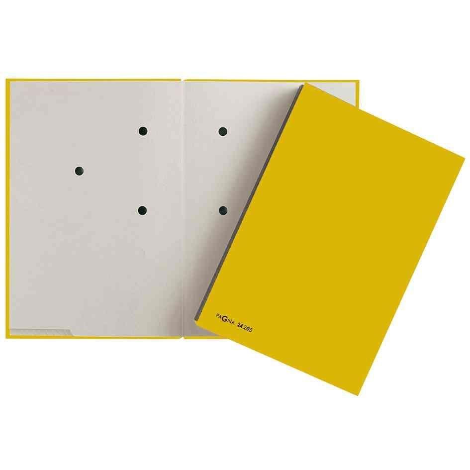 parapheur Color, format A4, 20 compartiments, jaune