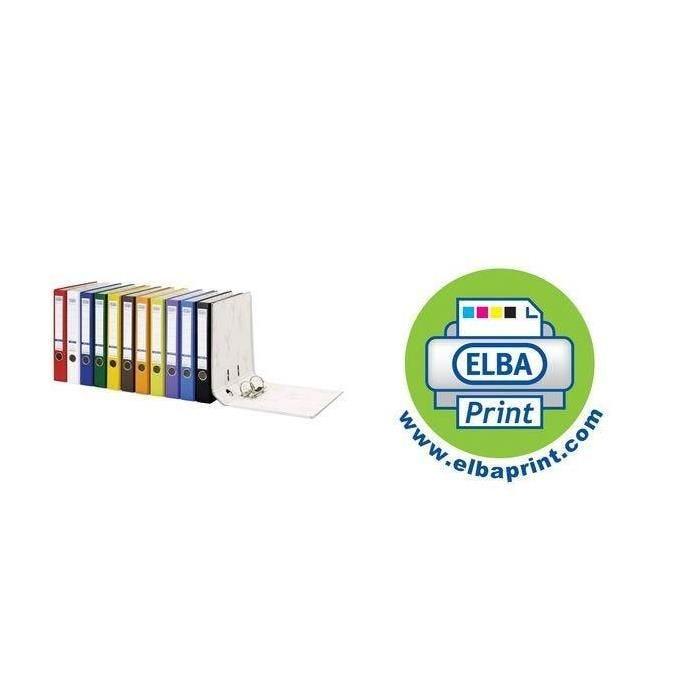 Classeur smart PP/Papier, largeur de dos: 80 mm, jaune