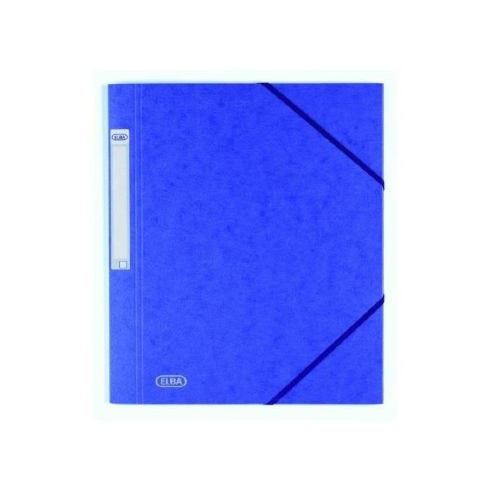 Chemise à élastique EUROFOLIO 'PRESTIGE' A4 bleu