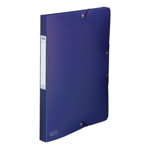 Chemise 3 rabats et élastique Memphis dos formé 2,5 cm polypropylène 7/10e bleu