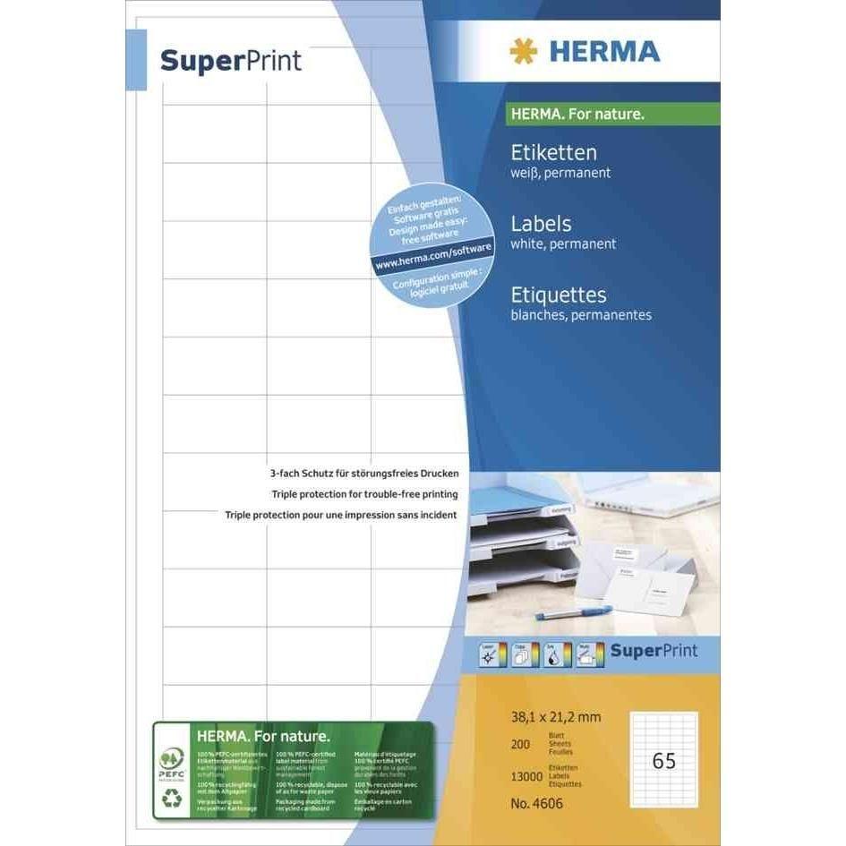 Étiquettes SuperPrint, 70 x 29,7 mm, sans bord, blanc 6000 sur 200 F