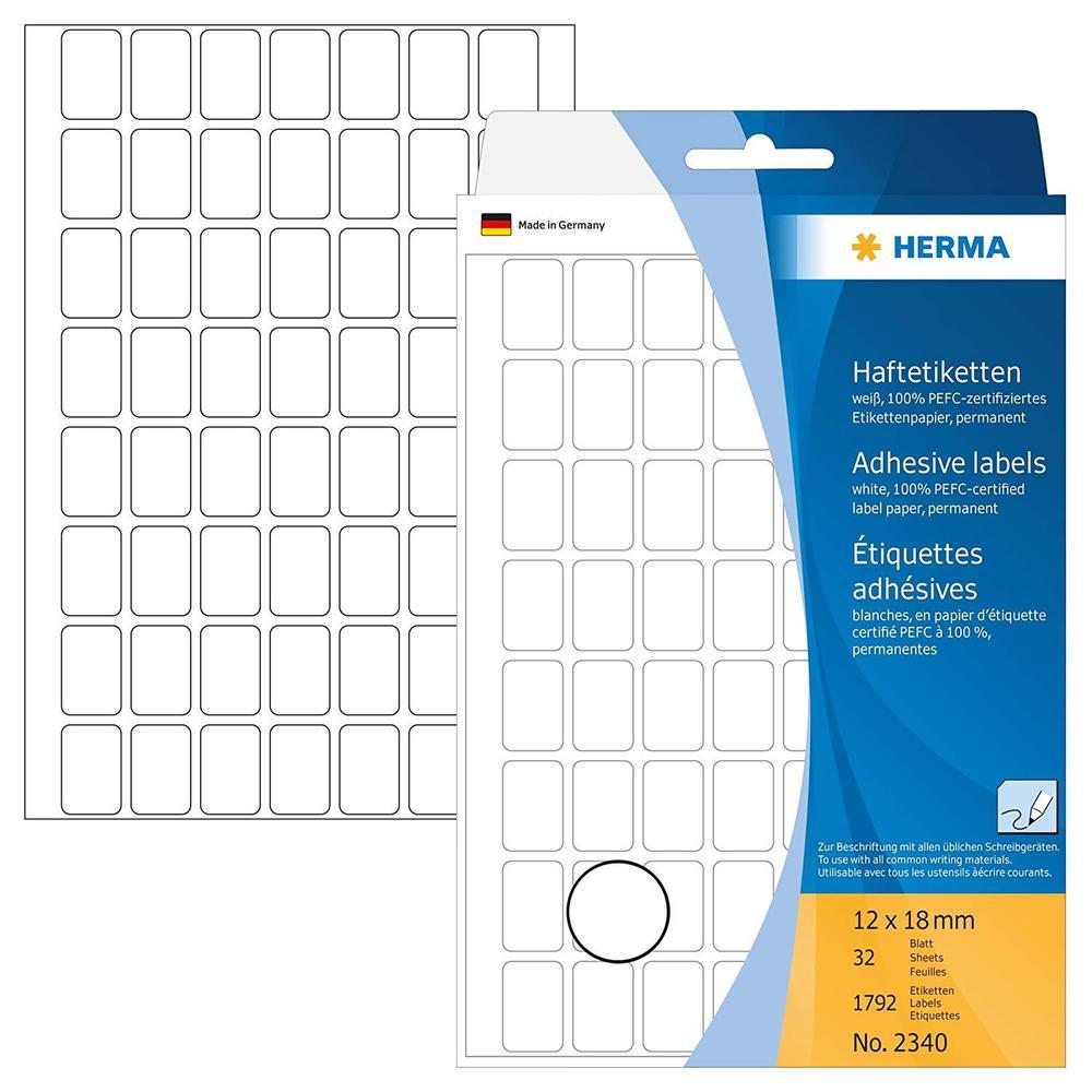 Étiquettes multi-usage, 12 x 30mm, blanc, grand paquet