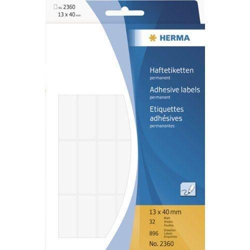 Étiquettes multi-usage, 13 x 40mm, blanc Pack de 896