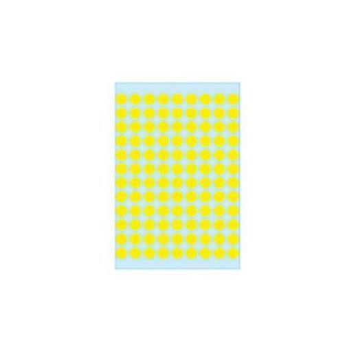 Étiquettes multi-usages, diamètre: 8 mm, jaune