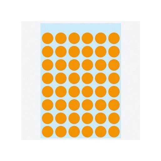 Etui 240 Étiquettes multi-usages Ronde 12 mm Orange fluo