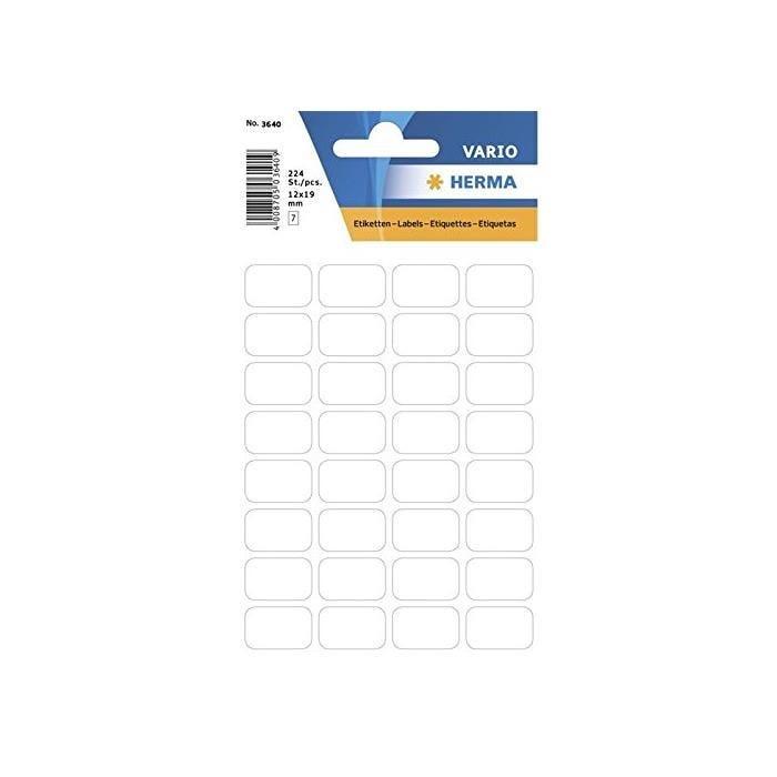 Étiquettes multi-usages, 8 x 36mm, blanc - Paquet de 168